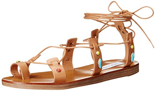 Boho-Chic Vacation & Fall Looks - Standard & Plus Size Styless - Steve Madden Women's Raae Gladiator Sandal, Natural Multi