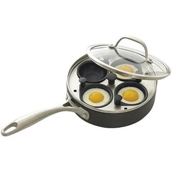Amazon.com: CHEFS Hard Anodized Egg Poacher Pan: 4-cup
