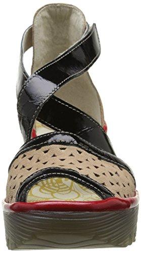 Fly Sandals Black Multicolore Beige Women's Red Damani 648 Cupido Ynes London wqagwr7R