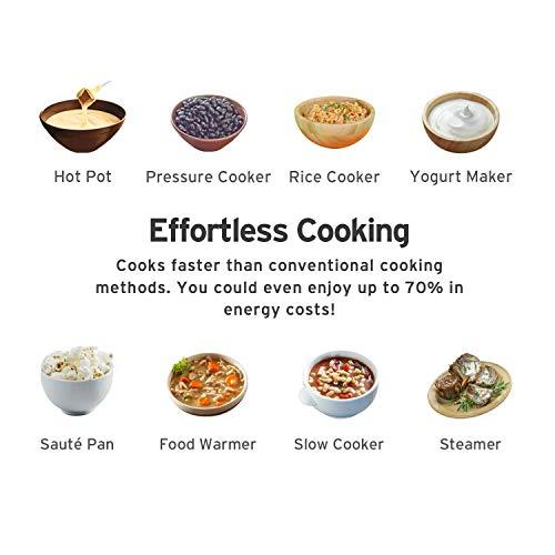 COSORI Electric Cooker Instant Steel Pot, 17-Program Sauté, Yogurt Warmer, Glass 2-Year quart