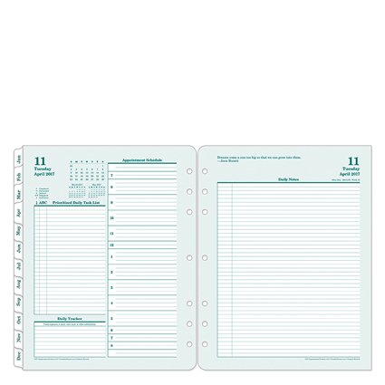 Monarch Original Daily Ring-bound Planner - Apr 2017 - Mar 2018