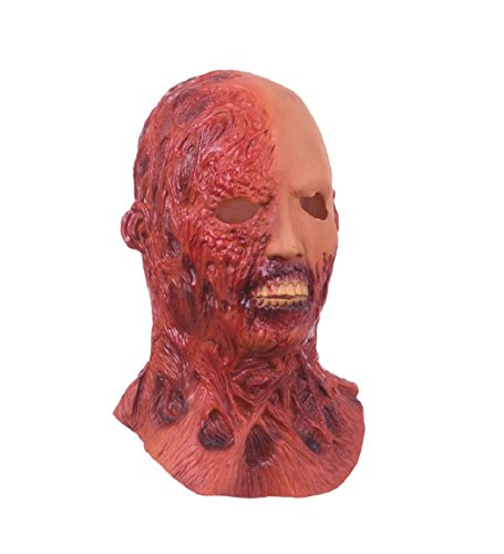 Red Dwarf Costumes Sale (Horror Mummy Latex Mask Full Face Adult Funny Breathable Halloween Masquerade Fancy Dress Party Cosplay Costume Looks Real)
