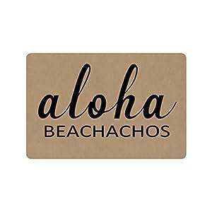 Xinzuo entrada Felpudo Aloha beachachos interior al aire libre Felpudo antideslizante Felpudo 23.6por 15,7pulgadas Máquina lavable tela no tejida