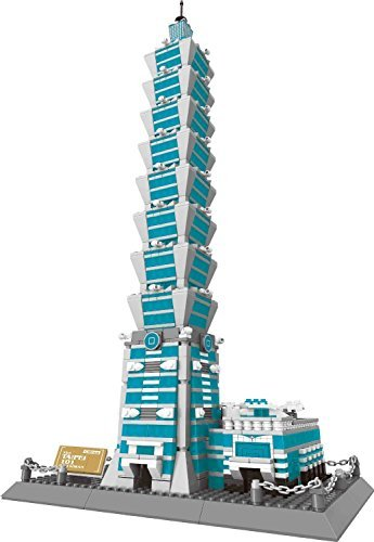 Wange [Wang] The Taipei 101 of Taiwan Building Blocks 1511 pcs Set in Huge Gift Box! World's Great Architecture Series 8019 [Parallel Import Goods]