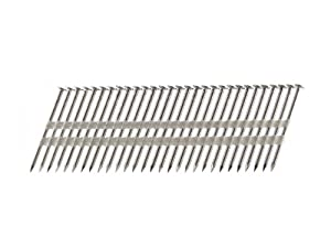 B&C Eagle A314X131RSS/22 Round Head 3-1/4-Inch x .131 x 22 Degree S304 Stainless Steel Ring Shank Plastic Collated Framing Nails (500 per box) from B & C Eagle