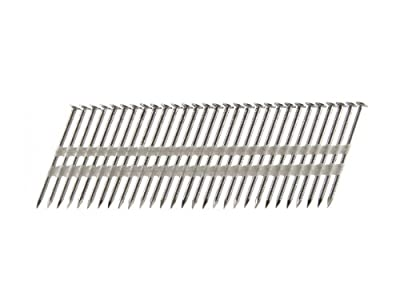 B&C Eagle A238X113RSS/22 Round Head 2-3/8-Inch x .113 x 22 Degree S304 Stainless Steel Ring Shank Plastic Collated Framing Nails (500 per box) by B & C Eagle