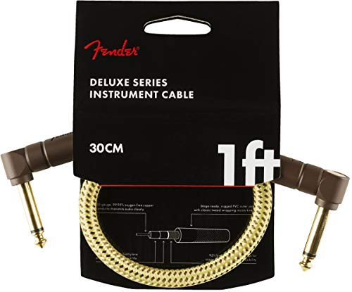 Fender Deluxe 1' Instrument Cable - Tweed