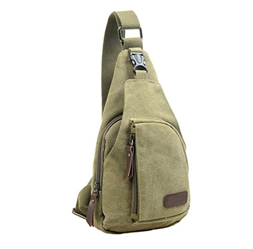 [해외]Morecome 남자 야외 스포츠 캔버스 배낭 Crossbody 흉부 가방/Morecome Men Outdoor Sports Canvas Backpack Crossbody Chest Bag