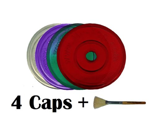 Caps for Keurig K-Cup Cups with Cleaning Brush (04 Caps)