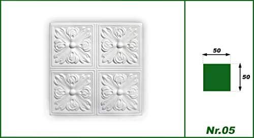 Nr.05 Sparpaket Plaques en Polystyr/ène Couverture D/écoration Plaques 50x50cm 10 M /²//40 Plaques blanc