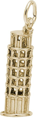(Rembrandt Leaning Tower Of Pisa Charm - Metal - Gold Plated Sterling Silver)