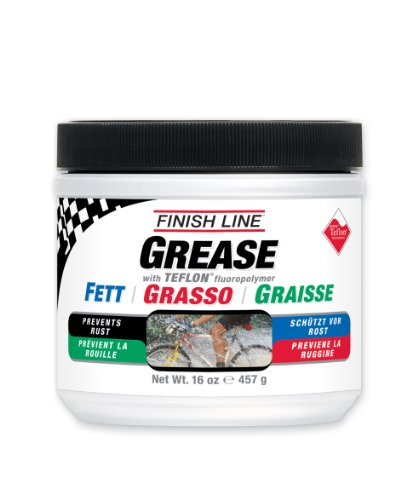 Bicycle Bearing Grease (Finish Line Premium Grease made with Teflon Fluoropolymer, 1 pound)