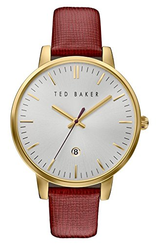 Ted Baker Women's 'Classic' Quartz Stainless Steel and Le...