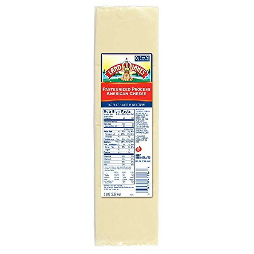 Land O Lakes White 160 Slice Processed American Cheese, 5 Pound - 6 per case.