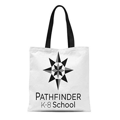 - Semtomn Cotton Line Canvas Tote Bag Pathfinder Reusable Reusable Handbag Shoulder Grocery Shopping Bags