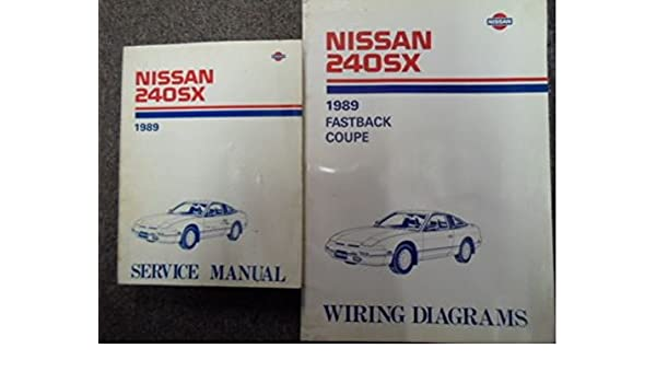1989 nissan 240sx service repair shop manual set factory w wiring diagram  oem paperback – 1989