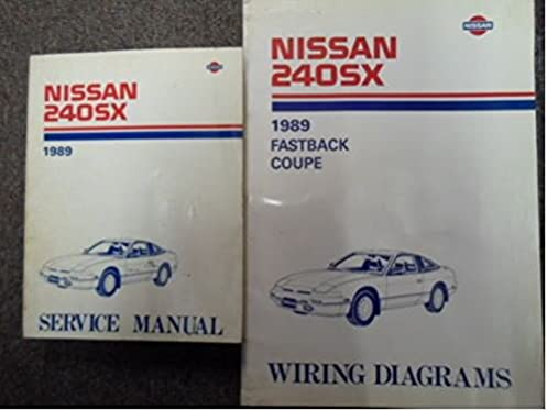 1989 nissan 240sx service repair shop manual set factory w wiring rh amazon com