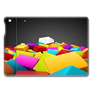3D Colorful Squares iPad Air Smart Cover Leather