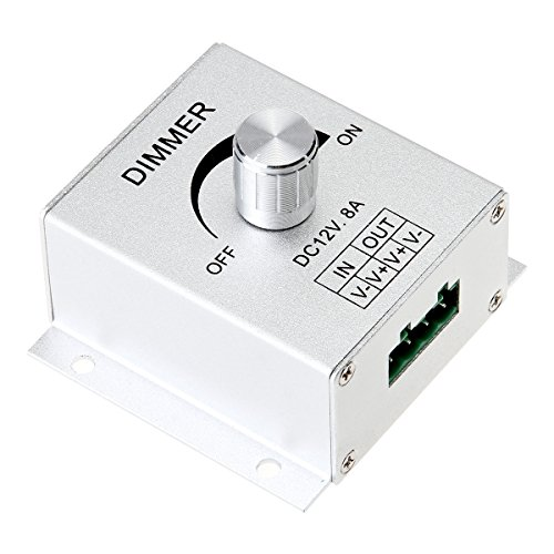 - SUPERNIGHT Aluminium Case DC12V 8A Single Channel Knob Dimmer Controller For LED strip Bulb Lamp Light 5050 3528 5630 single color LED Strip