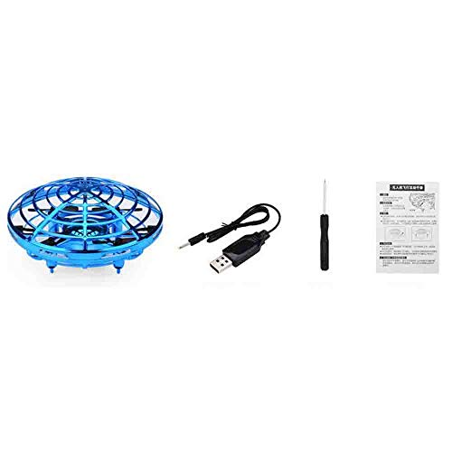 NiGHT LiONS TECH Novelty UFO Flying Toy,Hand-Controlled Suspension Quadcopter Toy, Infrared Induction Interactive Drone Indoor Flyer Toys with 360° Rotating and LED Lights for Adults,Kids,Teenagers by NiGHT LiONS TECH (Image #5)