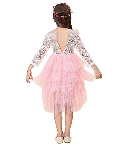 Miss Bei Little Big Girls'Lace Blackless Long Dress,Kids Cake Dress4-5 Years/120cm ()