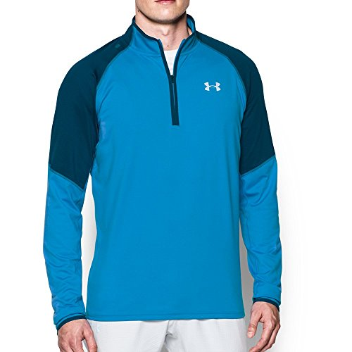 Under Armour Men's No Breaks Run 1/4 Zip, Brilliant Blue /Reflective, Small by Under Armour (Image #4)