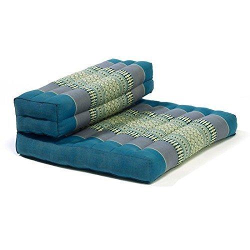 Thai Organic Kapok Filled Cushion (Blue) by thai otop