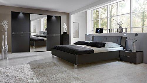Schlafzimmer Set 4tlg »MEDIAN« lavafarbig ohne Beleuchtung