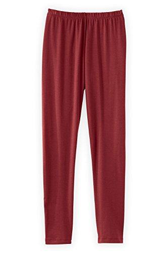 Womens Organic Cotton Tights Leggings (Fair Indigo Fair Trade Organic Cotton Ankle Length Legging (S, Auburn))