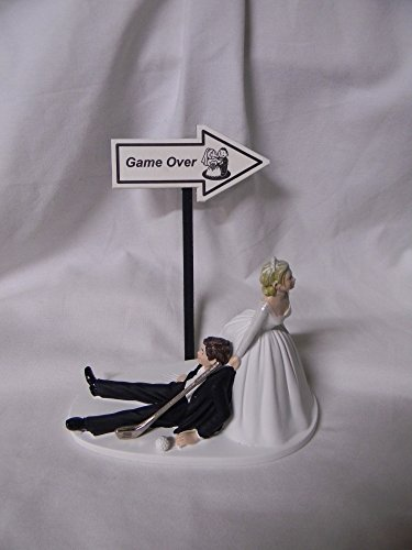 Wedding Party Reception Game Over Country Club Golf Golfer Clubs Cake -