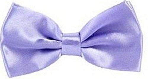 Tied Gift Necktie Pre Boys Purple Wedding Light Fancy Mens Plain Party New ties Satin Bow qBtf44