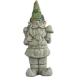 21 Inch Large Stone Succulent Hat Mushroom Garden Gnome