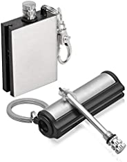 Lixada Permanent Match Forever Lighter Emergency Fire Starter Metal Match Lighter Matchbox(2Pack/4Pack)