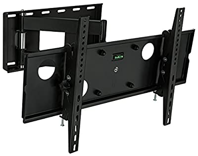 Mount-It! Articulating Wall Mount, Full Motion LCD TV Bracket with Extendable Swing Out Arm 32 to 65 Inch Compatible with VESA 200×200, 400×200, 400×400, 600×400, 165 lb Capacity, Black (MI-2171L)