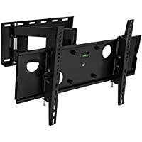 Mount-It! MI-2171L TV Wall Mount Full Motion Bracket, Swing Out Arm, for 32 to 65 Flat Screen LCD and LED, VESA 200x200 to 600x400, 165 lb Capacity, Black