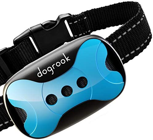 DogRook Rechargeable Bark Collar – Humane, No Shock Training – Action Without Remote – Vibration Sound Care Modes – for Small, Medium, Large Dogs Breeds – No Harm Deterrent Vibrating Control Collar