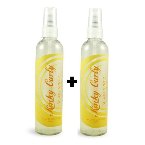(Kinky Curly Spiral Spritz 8oz (Pack of 2))