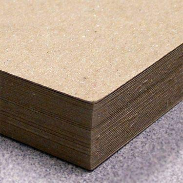 Chipboard- 8.5''x11'' 22pt (100 Sheets) - 100% Recycled- Made in USA