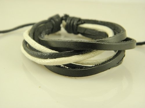 - New Europe selling hand-woven leather bracelet wax rope bracelet decorated with Bala Pi Special Value