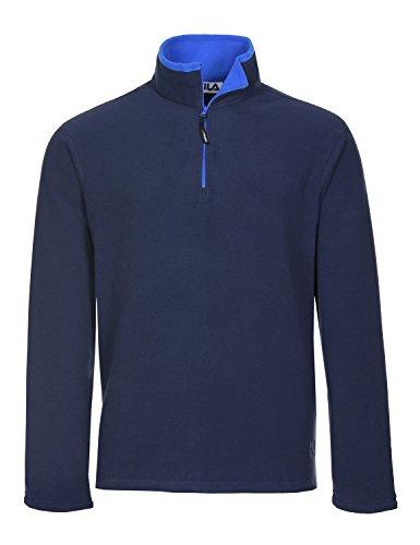 1/4 Zip Pullover Sweater (Fila Men's Polartec Fleece 1/4 Zip Pullover, Navy, 2XL)