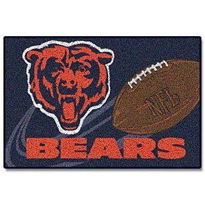 - Northwest Enterprises NFL Novelty Rug NFL Team: Chicago Bears