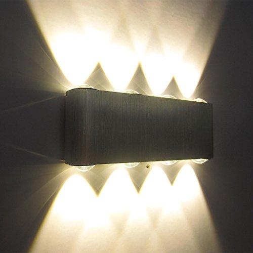 Kaleep LED 8W modern design wand Wandleuchte Wandlampe Wandleuchten Wandlampen Flurlampe Wandbeleuchtung Treppenleuchten Designerlampen innen Aluminum Warmeweiß