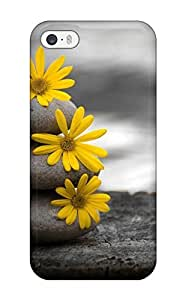 Excellent Design Three Rocks With Yellow Flower Case For Sam Sung Galaxy S5 Mini Cover