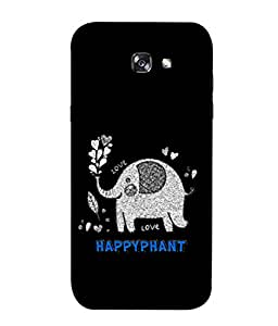 ColorKing Samsung A7 2017 Case Shell Cover - Happyphant Multi Color