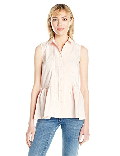 (French Connection Women's Neema Cotton Top, Pink Opal)