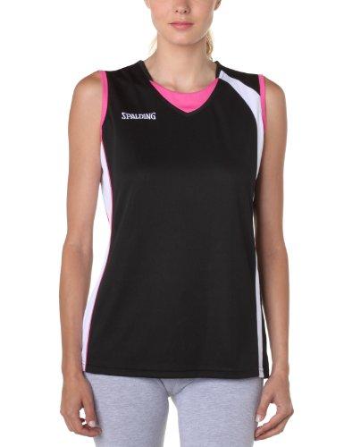 Spalding  - Camiseta de baloncesto para mujer Negro (Noir/Blanc/Pink)