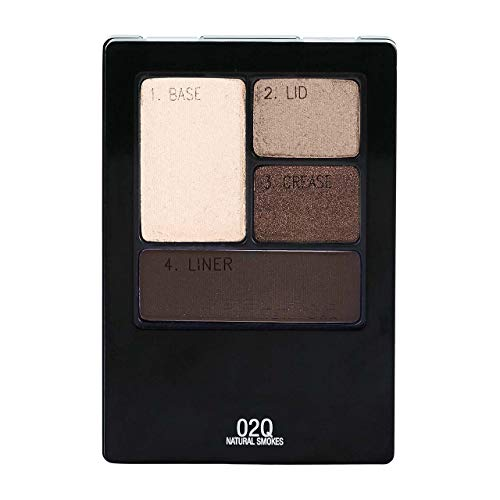 Maybelline New York Expert Wear Eyeshadow Quads, Natural Smokes [02Q] 0.17 oz (Pack of 2)