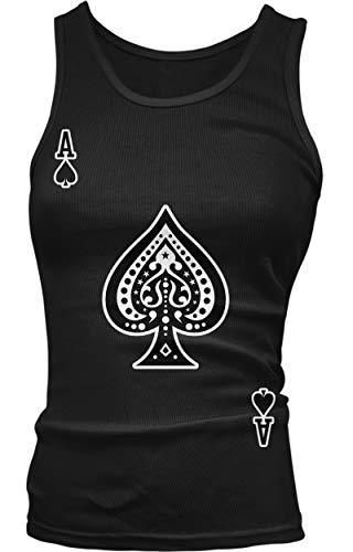 Amdesco Junior's Ace of Spades Tank Top, Black -