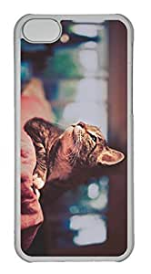 Customized iphone 5C PC Transparent Case - Here Cover