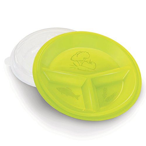 Rehabilitation Advantage 3 Compartment Portion Plate - Healthy Eating & Portion Control, Set of 2
